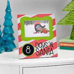 Days Til Santa Chalk Countdown Photo Frame