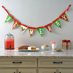 Candy Cane Be Merry Banner