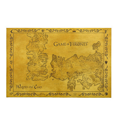Game of Thrones Map Canvas Art Print