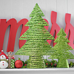 Green Rattan Christmas Tree, 24 in.