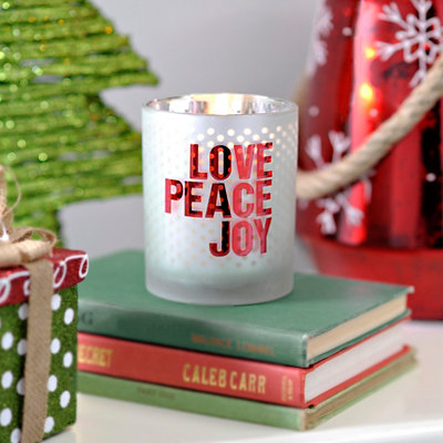 Love Peace Joy Votive Candle Holder
