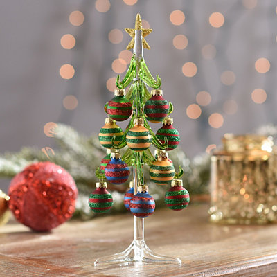 Elegant Decorated Glass Christmas Tree