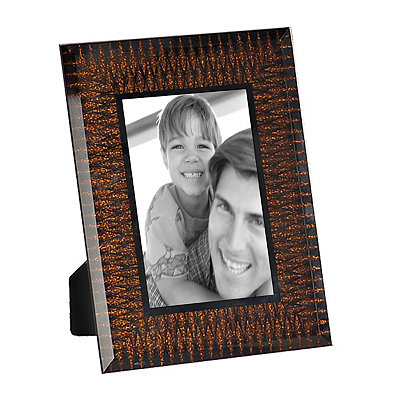 Copper Glitter Burst Picture Frame, 4x6