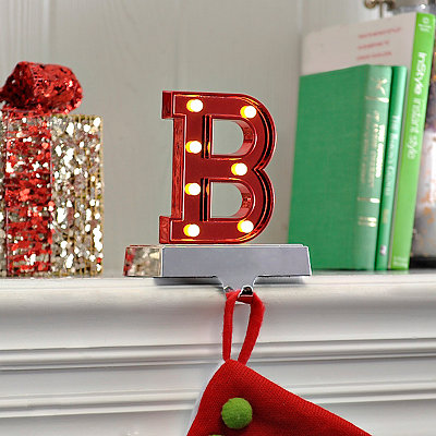 Pre-Lit Monogram B Stocking Holder