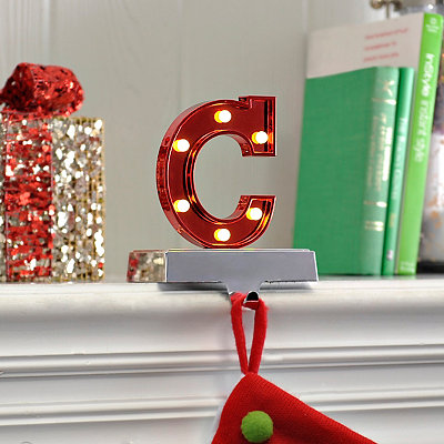 Pre-Lit Monogram C Stocking Holder
