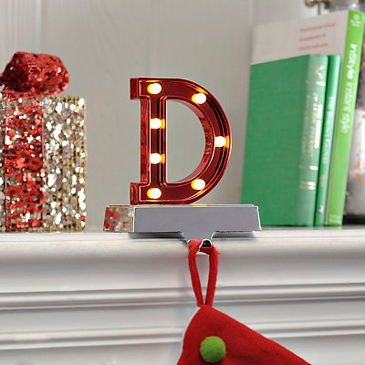 Pre-Lit Monogram D Stocking Holder
