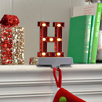 Pre-Lit Monogram H Stocking Holder