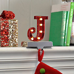 Pre-Lit Monogram J Stocking Holder