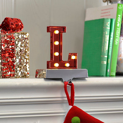 Pre-Lit Monogram L Stocking Holder