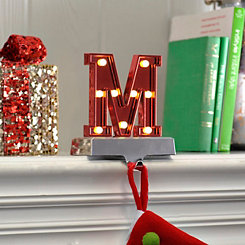 Pre-Lit Monogram M Stocking Holder