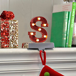 Pre-Lit Monogram S Stocking Holder