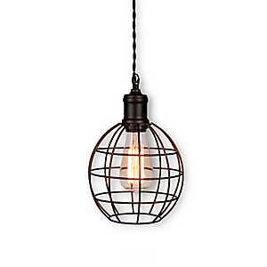 Bronze Round Cage Pendant Light