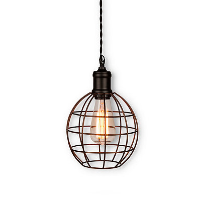Bronze Round Cage Pendant Light