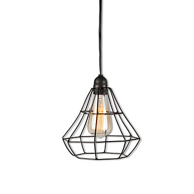 Black Metal Cage Pendant Light