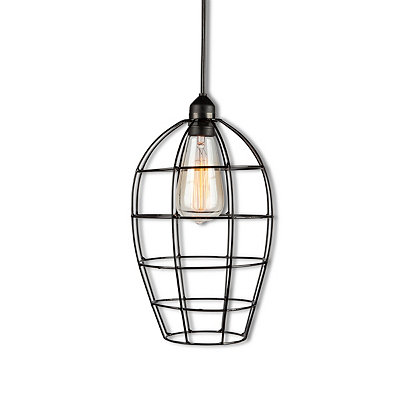 Tapered Metal Cage Pendant Light