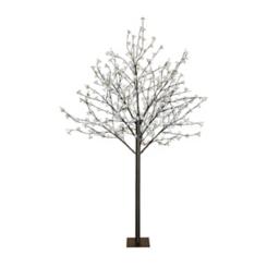 Cool White Flower Lights Pre-Lit Tree, 8 ft.