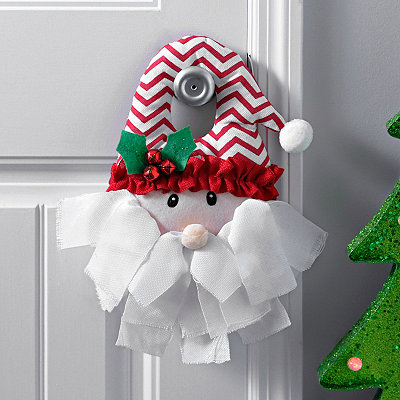 Chevron Santa Door Hanger