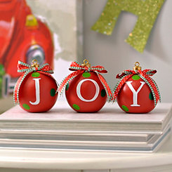 Joy Mini Ornament Statues, Set of 3