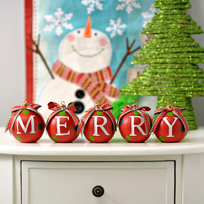 Merry Mini Ornament Statues, Set of 5