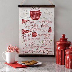 Peppermint Mocha Recipe Wall Hanger