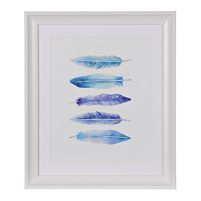 Blue Feather Framed Gallery Print