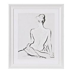 Nude Sketch Framed Gallery Print