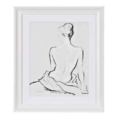 Nude Sketch Framed Gallery Print