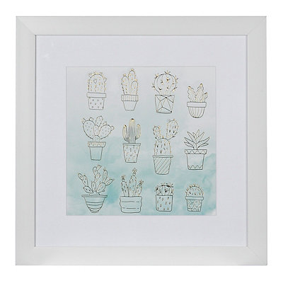 Watercolor Cacti Framed Gallery Print