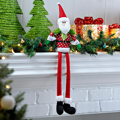 Curly Shoe Santa Shelf Sitter