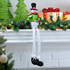 Curly Shoe Snowman Shelf Sitter