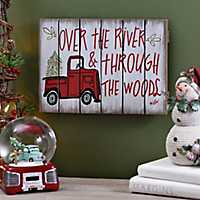 Over The River Truck Wood Plaque