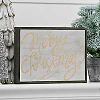 Merry Christmas Barn Wood Sign