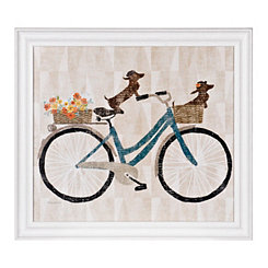 Bicycle For Two Framed Gallery Print