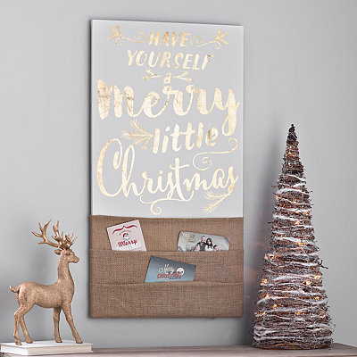 Merry Little Christmas Card Holder