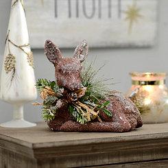 Snowy Deer Figurine