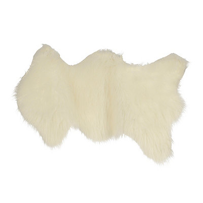 Bright White Faux Fur Scatter Rug