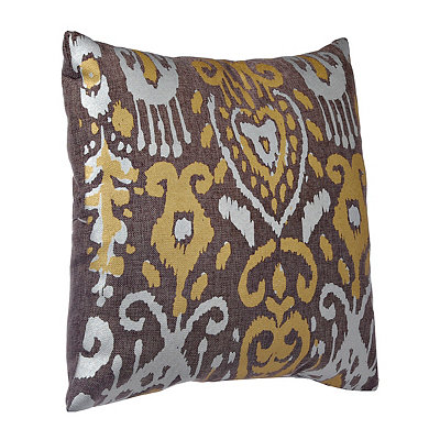 Tan Ikat Medallion Pillow