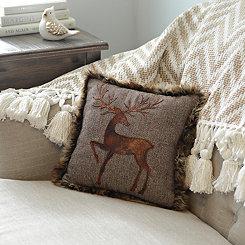 Reindeer Silhouette Pillow