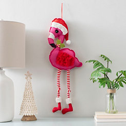Santa Flamingo Wall Hanger