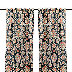Navy Katrin Curtain Panel Set, 84 in.
