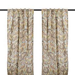 Vienna Paisley Curtain Panel Set, 84 in.
