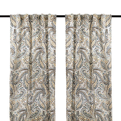 Ocean Vienna Paisley Curtain Panel Set, 84 in.