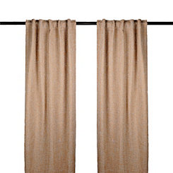 Tan Selma Curtain Panel Set, 84 in.
