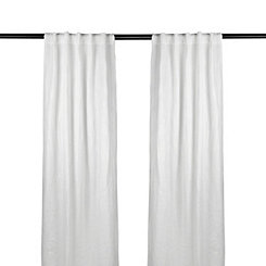 White Selma Curtain Panel Set, 84 in.