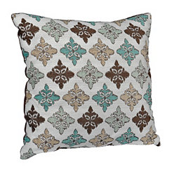 Blue and Brown Simi Pillow