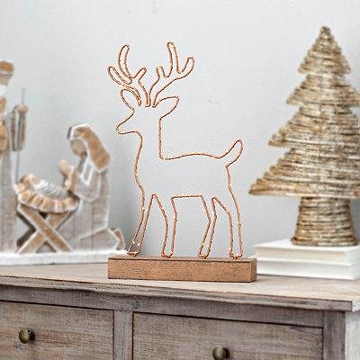 Pre-Lit Reindeer Silhouette Statue