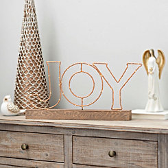 Pre-Lit Joy Tabletop Sign