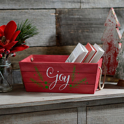 Joy Wooden Crate