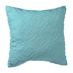 Aqua Jane Diamond Pillow