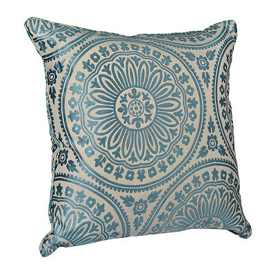 Aqua Shelby Medallion Pillow